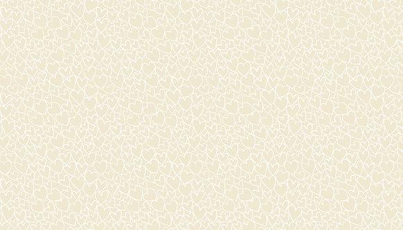 Hearts in Light Cream | Essentials Collection | Makower UK