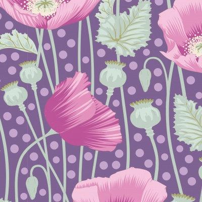Poppies Lilac    Garden Life Collection   Tilda