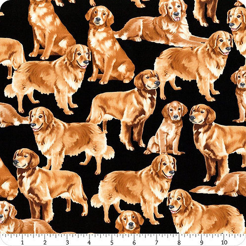 Golden on Black | Pure Breeds Collection | Timeless Treasures