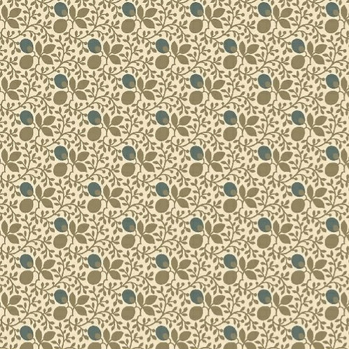 Vines & Leaves in Cream | Concrete Collection | Marcus Fabrics