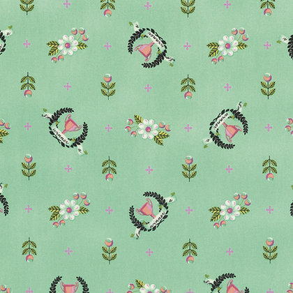Winner's Circle in Kiwi | Tula Pink Greatest Hits Collection | Free Spirit Fabrics