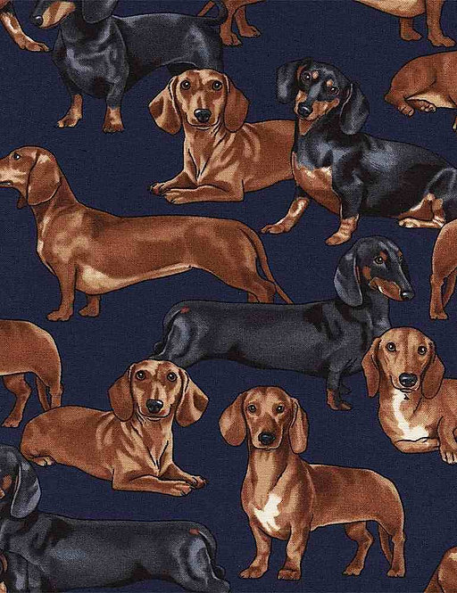 Dachshunds on Blue | Pure Breeds Collection | Timeless Treasures