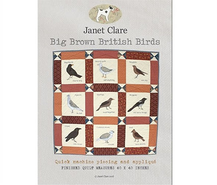 Big Brown Birds | Janet Clare Quilt Patterns | Janet Clare