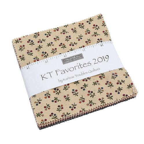 "KT Favorites 2019 - 5"" Charm Pack by Moda Fabrics"