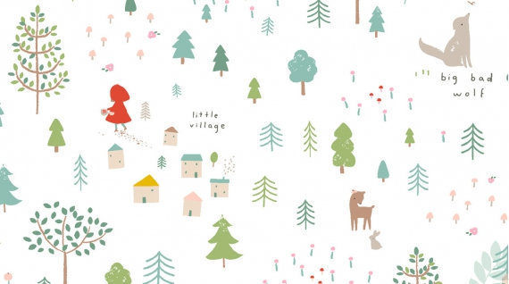 Little Red on White | Little Red Collection  | Dear Stella