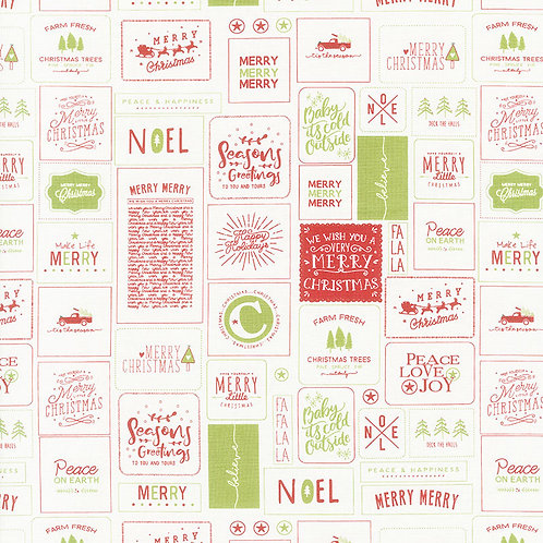 Labels on Cream | The Christmas Card Collection | Moda
