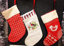 Ready made Christmas stockings available in the shop #handmadewithlove #shoplocal #timesaver #christ