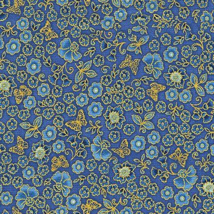 Floral on Blue | Bella Mariposa by Studio RK | Robert Kaufman