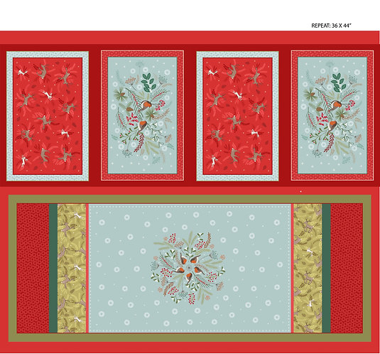 Table Runner and Mats | New Forest Winter Collection | Lewis and Irene