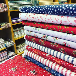 Christmas in July - lovely new _lewisandirenefabrics in our shop now #christmasinjuly #christmasquil