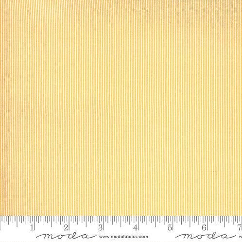 Yellow/Cream Fine Stripe    Spring Chicken Collection   Moda Fabrics