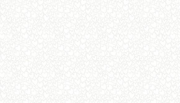 Hearts in White | Essentials  | Makower UK