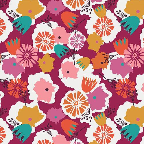 Bloom Bouque on Plum | Alexandria Collection | Sweet Bee Designs