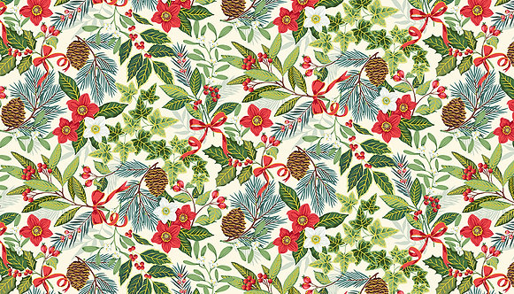 Yuletide Foliage Cream | Yuletide Collection | Makower