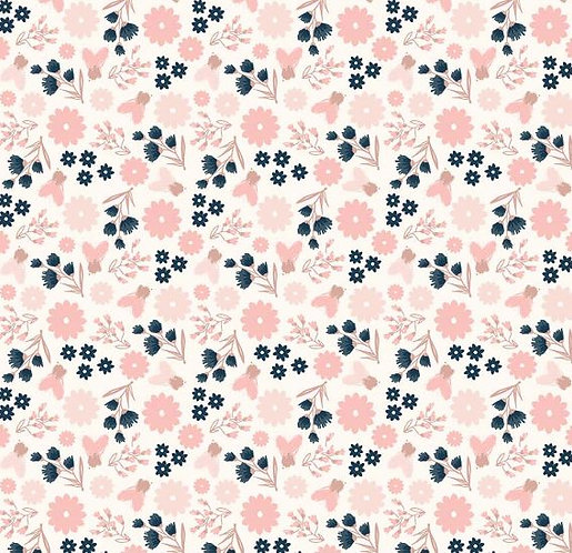 Sparkle Floral in Cream | Blush | Riley Blake Designs