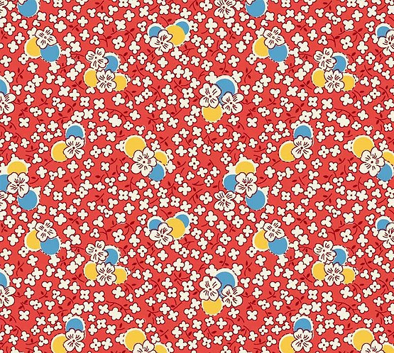 Red/Multi Small Flowers | Washington Street Vintage 30's Florals | P&B Textile