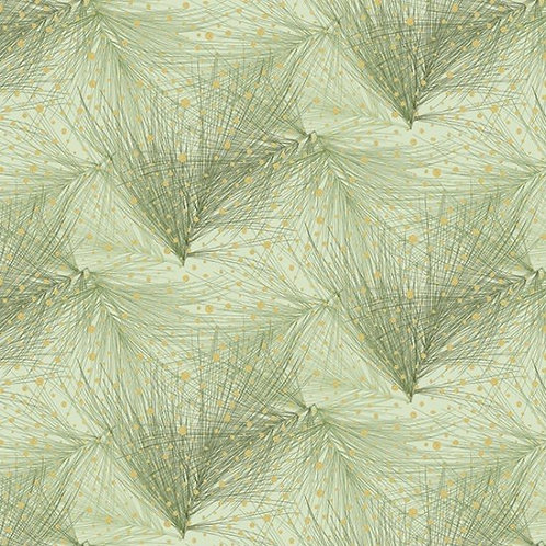 Branch in Leaf/Gold  | Mixed Metals Collection | Hoffman Fabrics