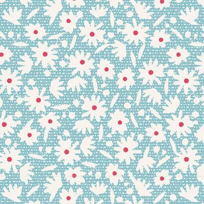 Paperflower Teal | Bon Voyage | Tilda