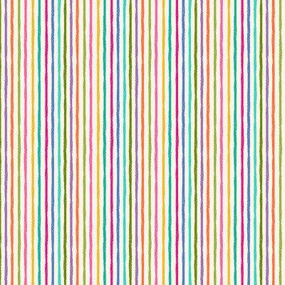 Chalky stripe on White   Katy's Cats   Makower UK