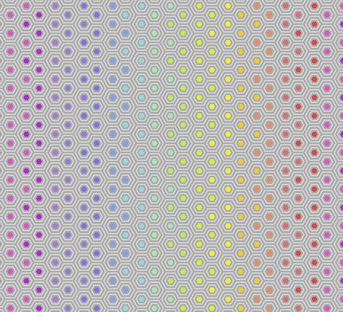Hexi Rainbow Dove   Tula Pink True Colors Collection   Free Spirit Fabrics
