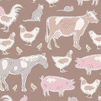 Tiny Farm Animals Brown | Tiny Farm Collection | Tilda