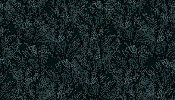 Seaweed Black | Reef Collection By Beth Studley | Makower UK