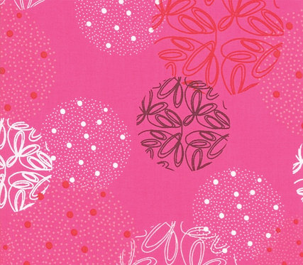 Spheres Hot Pink Metallic | Just Red Collection by Zen Chic | Moda Fabrics​​​​
