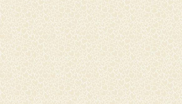 Hearts in Light Cream | Essentials 26 | Makower UK