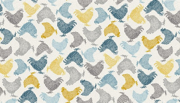 Chickens in Cream | Grove Collection | Makower UK​​​​