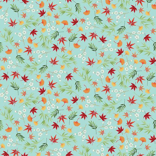 Foliage on Turquoise   Michiko   Makower UK