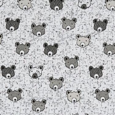 Bear Face in Cream | Wolly Bear | STOF Fabrics