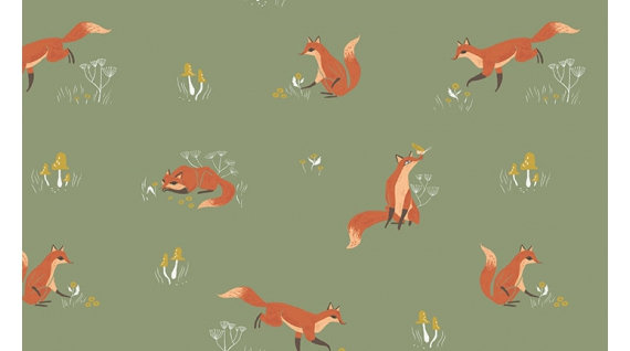 Fox on Aloe | Stay Wild Collection | Dear Stella