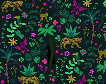 Jungle Leopard on Midnight | Night Jungle Collection | Dashwood Studio