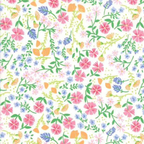 Spring Meadow White | Summer Picnic by Stacy Iest Isu | Moda Fabric