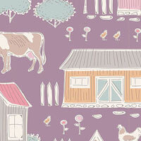 Tiny Farm Mauve | Tiny Farm Collection | Tilda