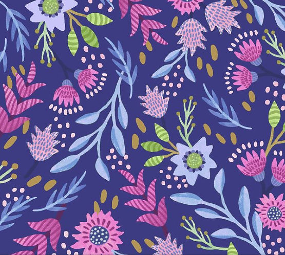 Flourish Blue | Flourish Collection | Windham Fabrics