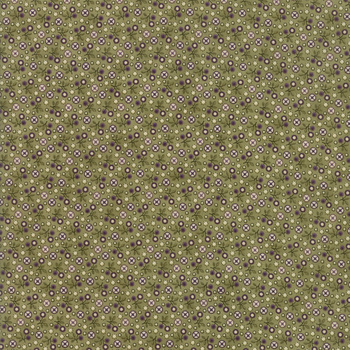 Tiny Floral in Leaf | Sweet Violet Collection | Moda Fabrics