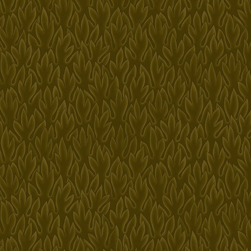 Leaves on Olive | Colourflow Collection | STOF Fabrics