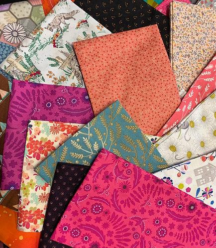 "Half Metre Bundle of ""Retired' Fabrics - 5 x 0.5m"