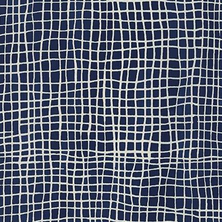 Grid in Indigo | Mark to Make Collection | Robert Kaufman Fabrics