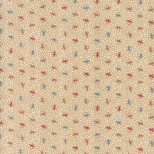 Multi colour Cells on Cream | Lancaster by Jo Morton | Moda Fabric