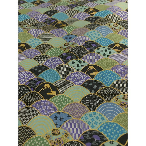 Tenku Turquoise | Japanese Prints Collection | Nutex