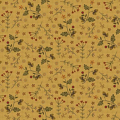 Acorns and Flowers on Butternut | Moonshine | Henry Glass