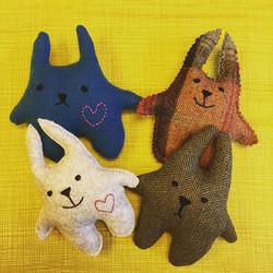 A group of 'Doodies' - freshly made! #handmade #tweed #woolfelt #cashmereupcycle #kendal #englishlak