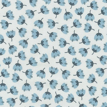 Florals in Sky | Arctic Collection | Robert Kaufman Fabrics