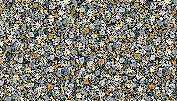 Packed Flowers in Grey | Bloom Collection | Makower UK