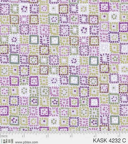 Tiles in Green / Violet | Kashmir Kaleidoscope | P&B Textiles