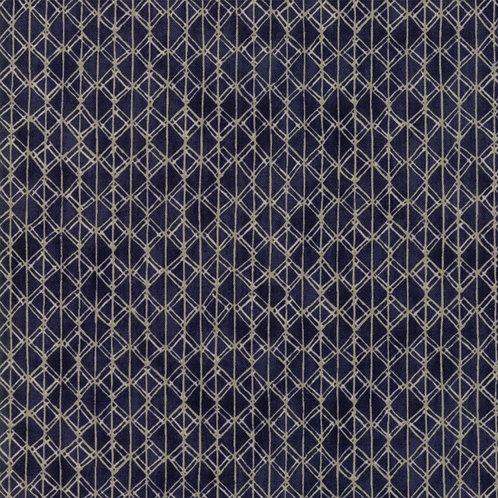 Pleat in Indigo | Origami Collection | Moda Fabrics