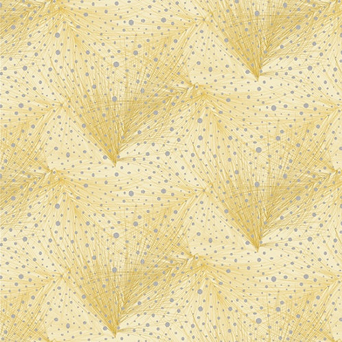 Branch in Mustard/Sliver | Mixed Metals Collection | Hoffman Fabrics