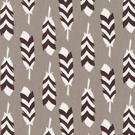 Feathers in Smoke | Arctic Collection | Robert Kaufman Fabrics